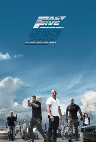 Fast Five Regular Original Movie Poster  Double Sided 27 X40