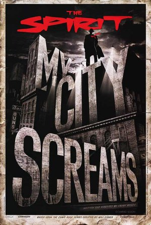 Spirit : My City Screams Advance Version A Double Sided Original Movie Poster 27x40