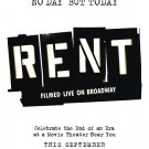 Rent 2008 Original Movie Poster  27 X40 Double Sided
