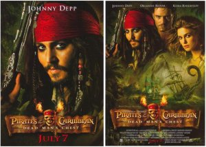 Pirates of the Caribbean 2 Dead Mans Chest Orig Movie Poster Double Sided 22 X27