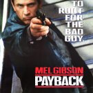 Payback Original Movie Poster Double Sided 27 X40