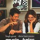 Music and Lyrics Original Movie Poster  Double Sided 27 X40