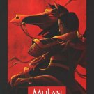 Mulan Advance Original Movie Poster  Double Sided 27 X40