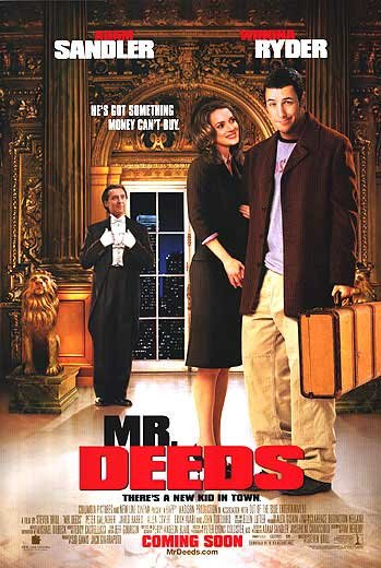 Mr. Deeds Version A Original Movie Poster  Double Sided 27 X40