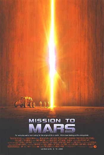 Mission To Mars Regular Original Movie Poster  Single Sided 27 X40