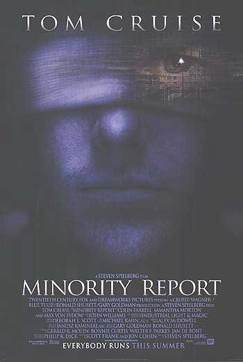 Minority Report 2nd Advance Original Movie Poster  Double Sided 27 X40