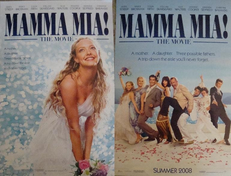 Mamma Mia  Original Movie Poster Double Sided 11x17
