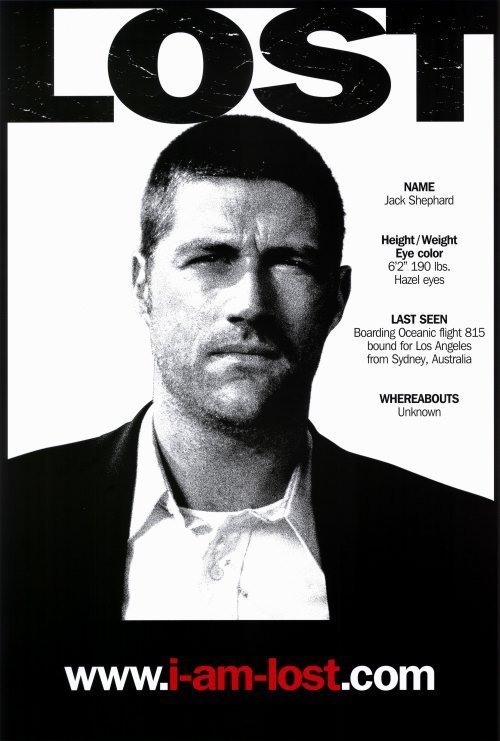 Lost (Jack) Original Tv Show Poster Movie Poster Single Sided 24x36