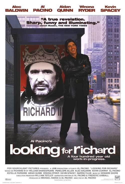 Looking For Richard Original Movie Poster Double Sided 27x40
