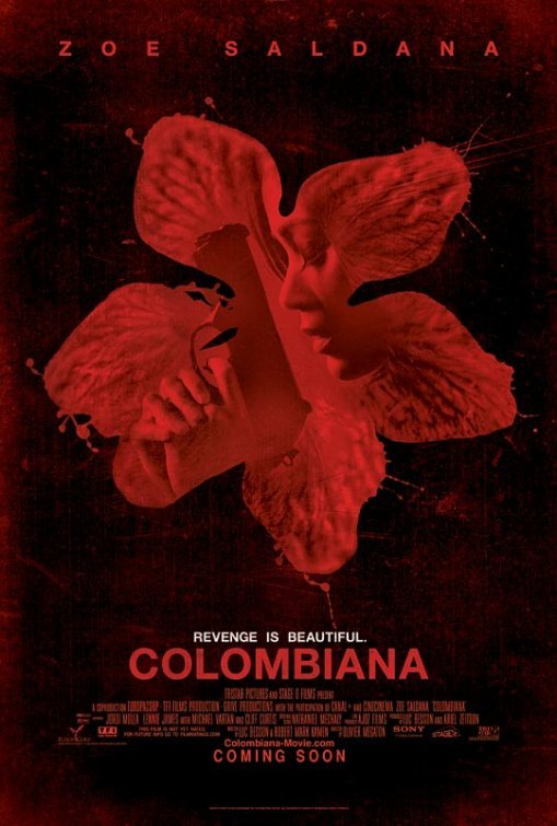 Colombiana Original Movie Poster  Double Sided 27 X40