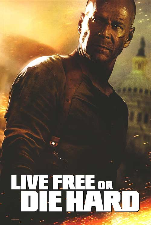 Live Free or Die Hard Original Movie Poster Double Sided 27 X40