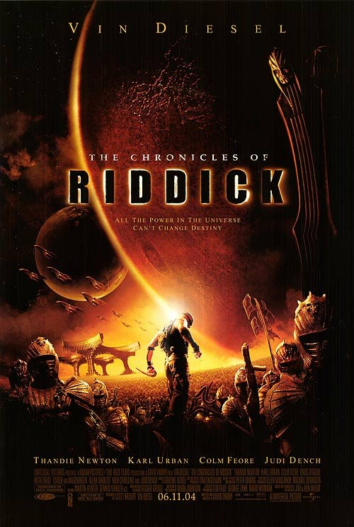 Chronicles Of Riddick Original Movie Poster Double Sided 27 X40