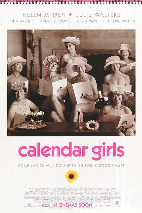 Calendar Girls Original Movie Poster  Double Sided 27 X40
