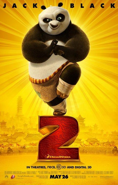 Kung Fu Panda 2 Regular Original Movie Poster Double Sided 27 X40