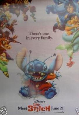 Lilo & Stitch  3D Lenticular Original Movie Poster 27x40