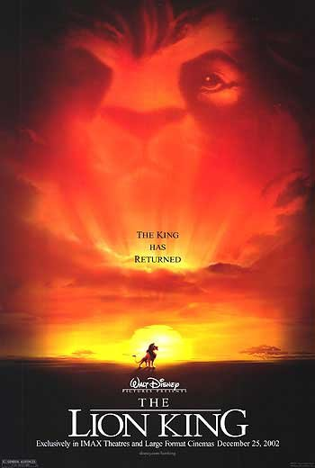 Lion King Imax Original Movie Poster Double Sided 27x40
