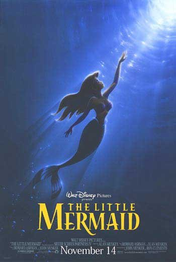 Little Mermaid Advance Original Movie Poster Double Sided 27x40
