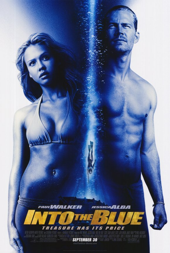Into The Blue Regular Original Movie Poster Double Sided 27x40