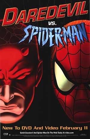 Daredevil vs Spiderman Original Movie Poster Single Sided 24x36