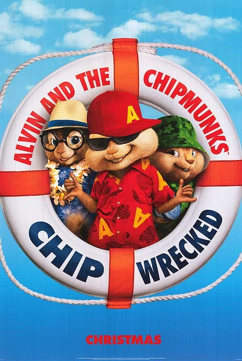 Alvin and the Chipmunks Chip-Wrecked Advance B Original Movie Poster Doube Sided 27x40