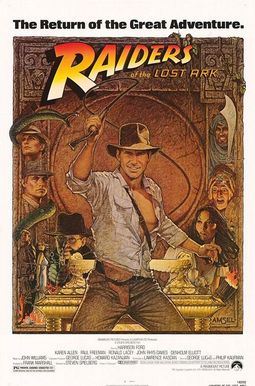 Indiana Jones Raiders Of The Last Ark (Re-Release) Original Movie Poster Single Sided 27x40