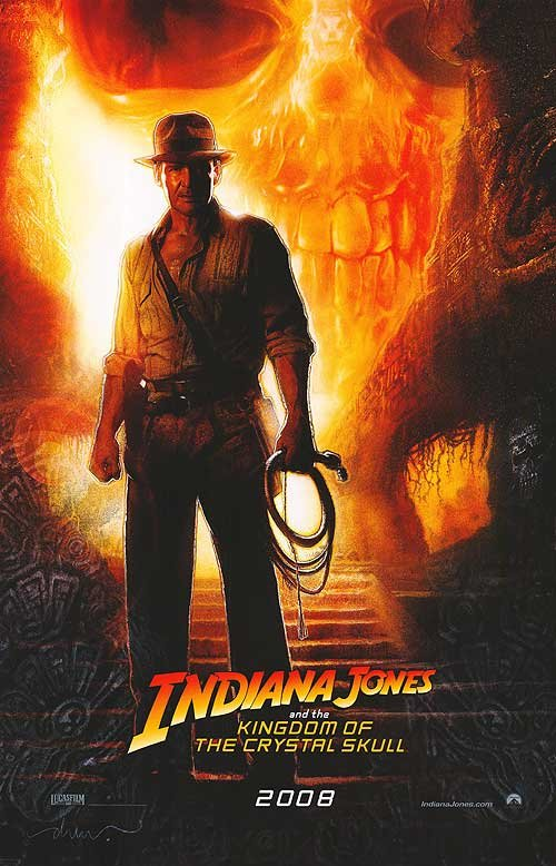 Indiana Jones And The Kingdom Of Crystal Skull Advance 2008 Original Movie Poster Double Sided 27x40