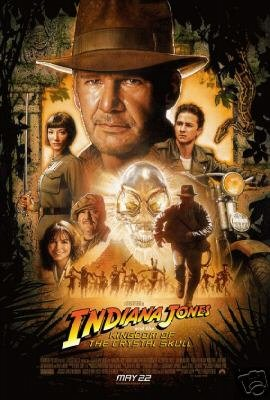 Indiana Jones And The Kingdom Of Crystal Skull Regular Original Movie Poster Single Sided 27x40