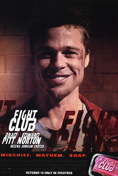Fight Club ( Brad Pitt) Original Movie Poster Single Sided 27 X40