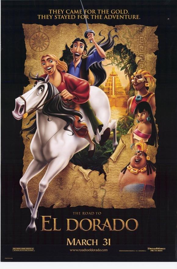 ROAD TO EL DORADO REG Movie Poster  27X40 DS ORIGINAL