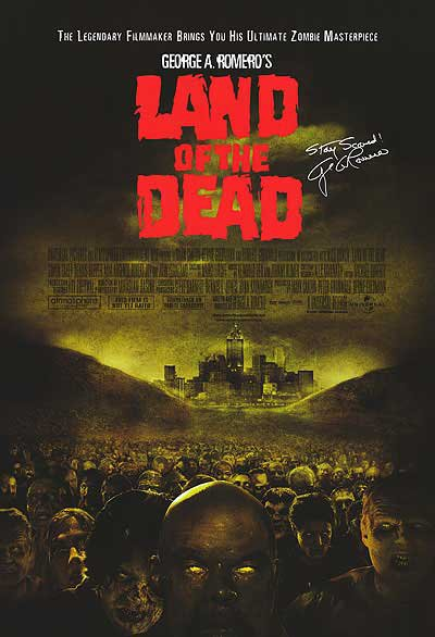 Land Of The Dead Original Movie Poster Single Sided 27x40