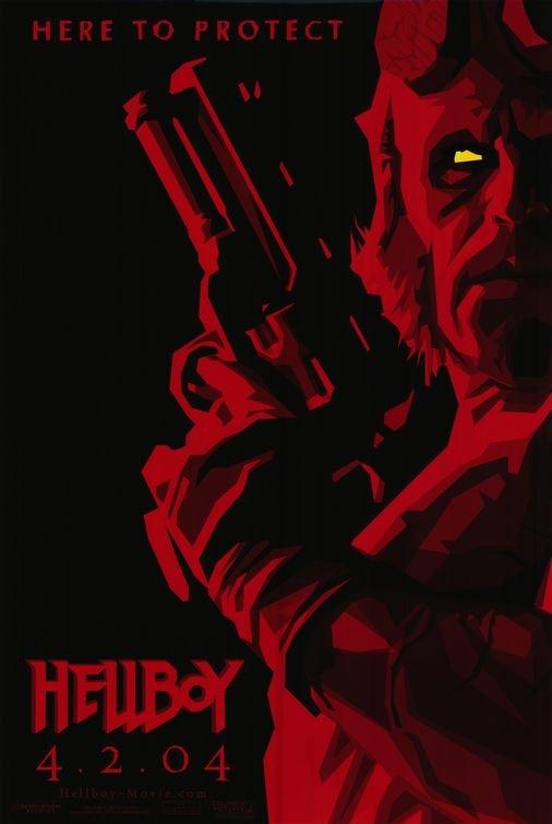 Hellboy Advance B Red Original Movie Poster Single Sided 27x40