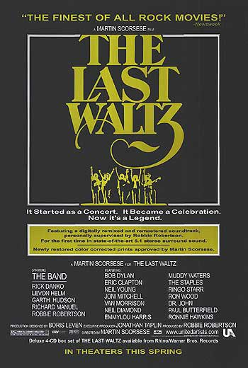 Last Waltz Final Original Movie Poster 27 X40 Single Sided