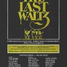 Last Waltz Final Original Movie Poster 27 X40 Single Sided