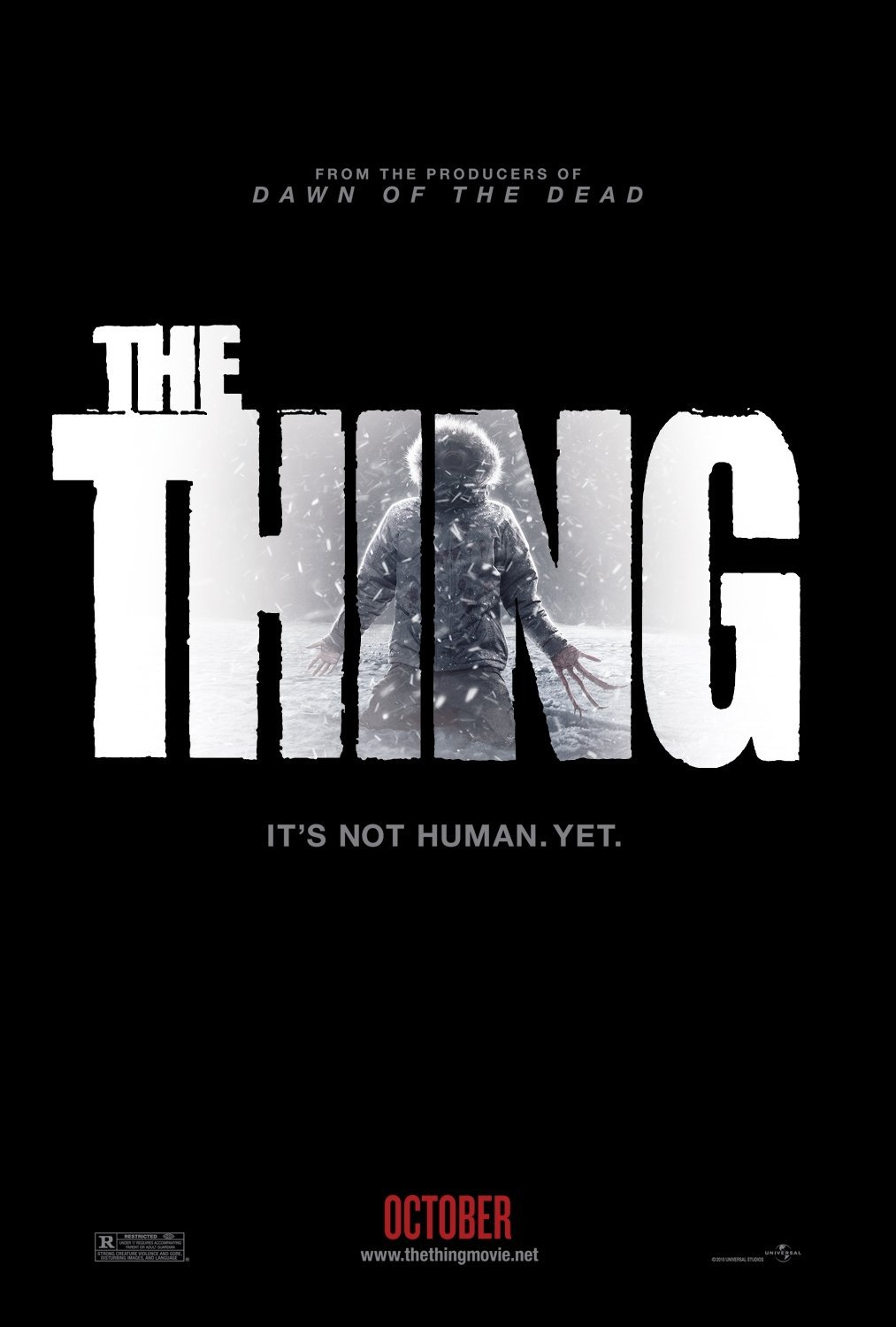 The Thing Advance  Original Movie Poster Double Sided 27 X40