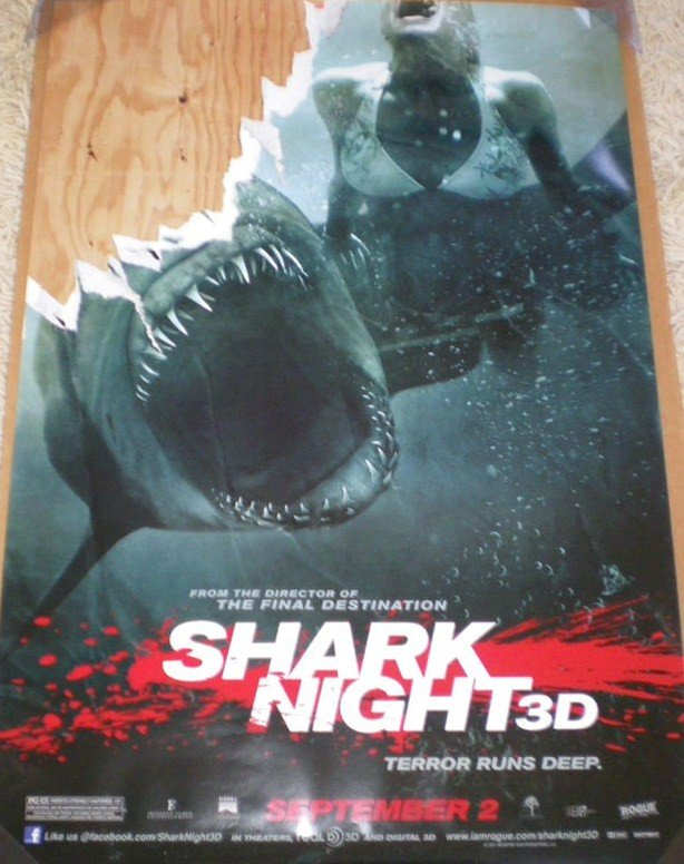 Shark Night 3D Original Movie Poster Single Sided 27 X40