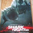 Shark Night 3D Original Movie Poster Single Sided 27 X40