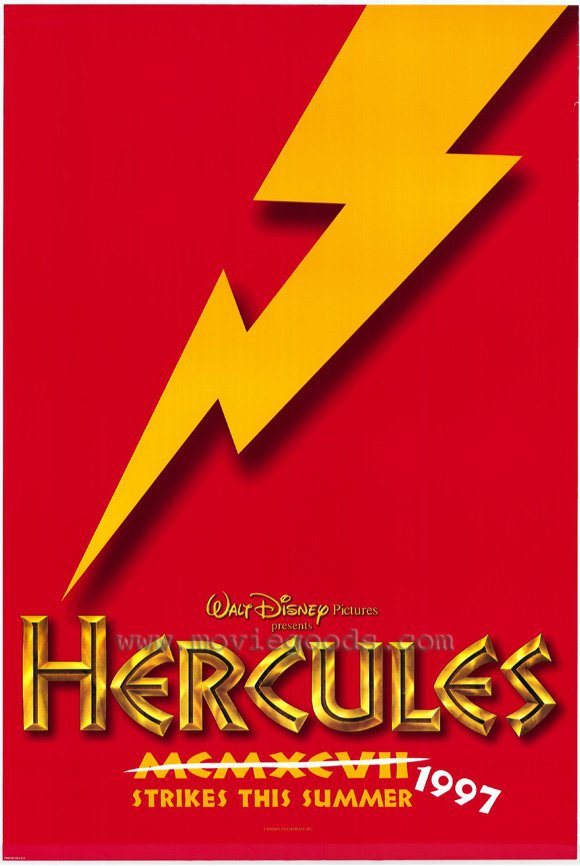 Hercules Advance Red Original Movie Poster Double Sided 27x40