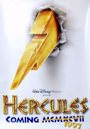 Hercules Intl Original Movie Poster Double Sided 27x40