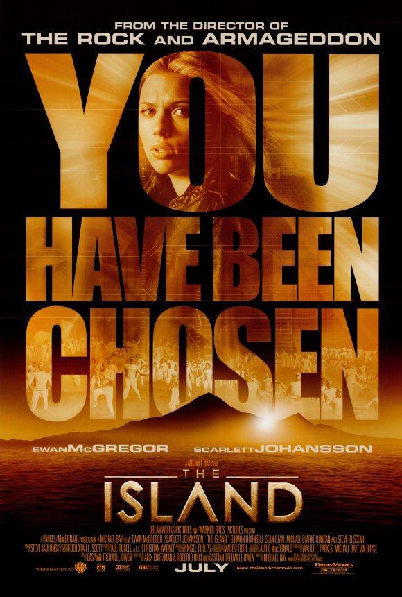 Island (S. Johansson) Original Movie Poster Double Sided 27x40