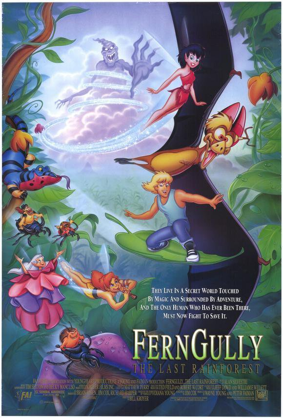 Ferngully: The Last Rainforest Original Movie Poster Double Sided 27x40