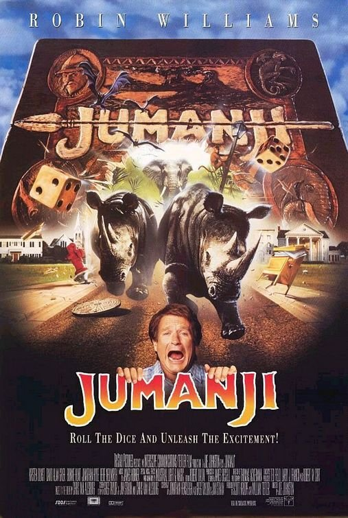 Jumanji Original Movie Poster Double Sided 27x40