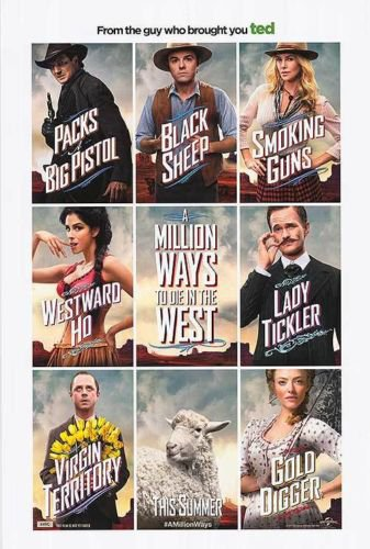 A Million ways To Die In The West B Original Movie Poster Double Sided 27x40