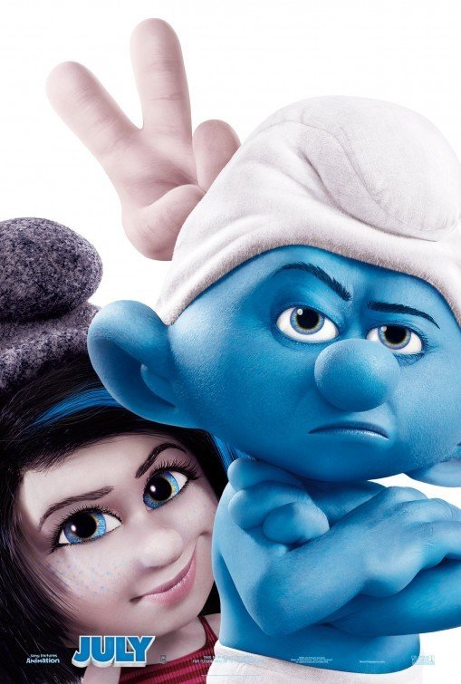 Smurfs 2 Advance C Original Movie Poster Double Sided 27 X40