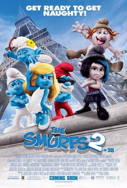Smurfs 2 International B b Original Movie Poster Double Sided 27 X40