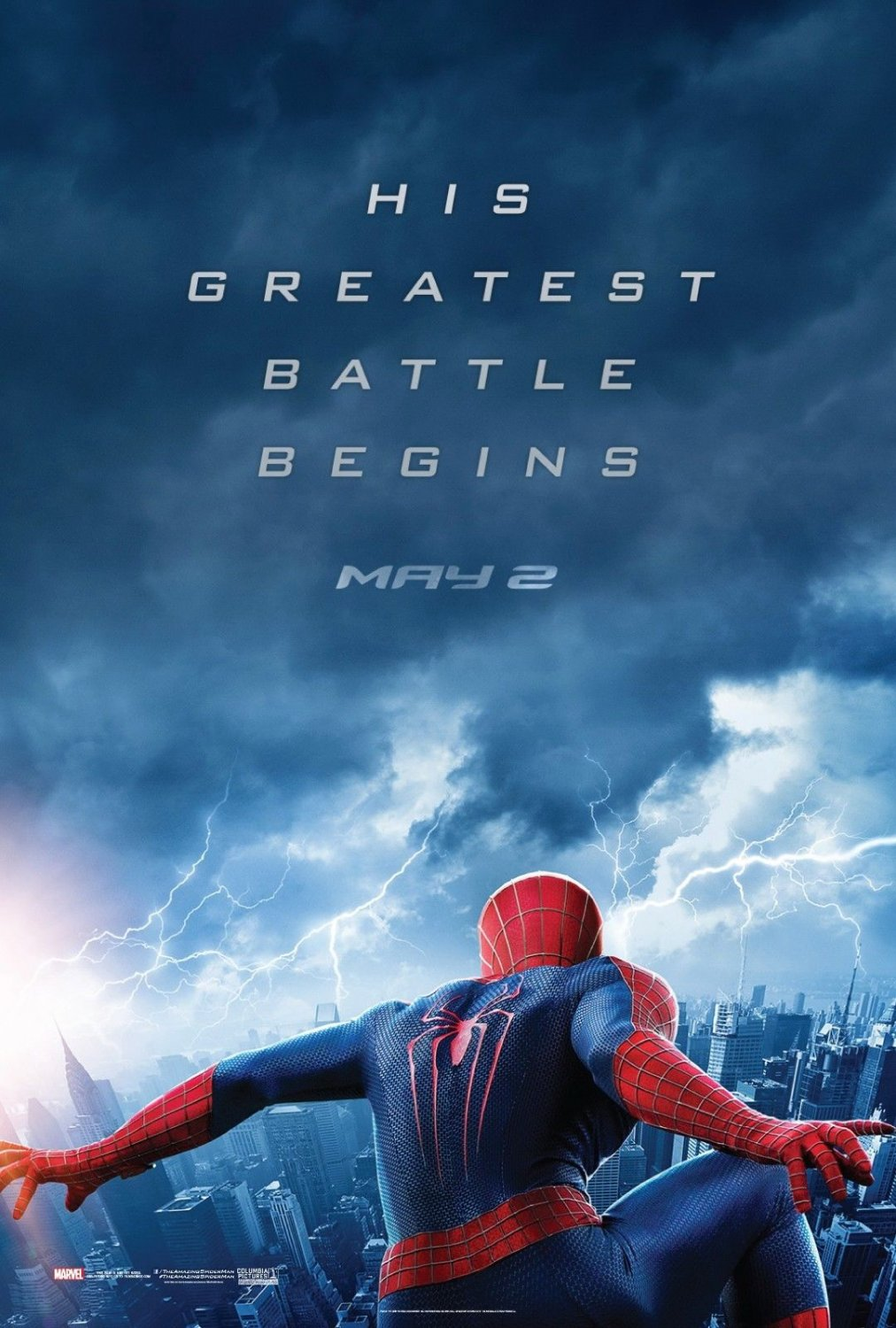 Amazing Spider-Man 2 Advance May 2 Original Movie Poster Double Sided 27 X40