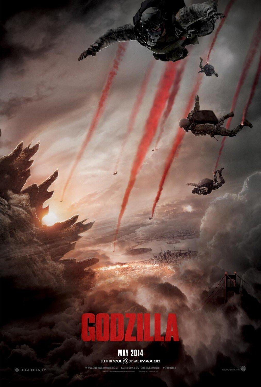 Godzilla 2014 Advance Original Movie Poster Double Sided 27x40