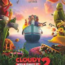 Cloudy With A Chance Of Meatballs 2 Advance Original Movie Poster Double Sided 27 X40
