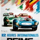 Reims 1967 Car Racing Poster 13x19 inches