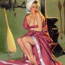 Elvgren Gillette Girl Poster 13x19 inches