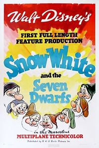 Snow White and the Seven Dwarfs Poster 13x19 inches